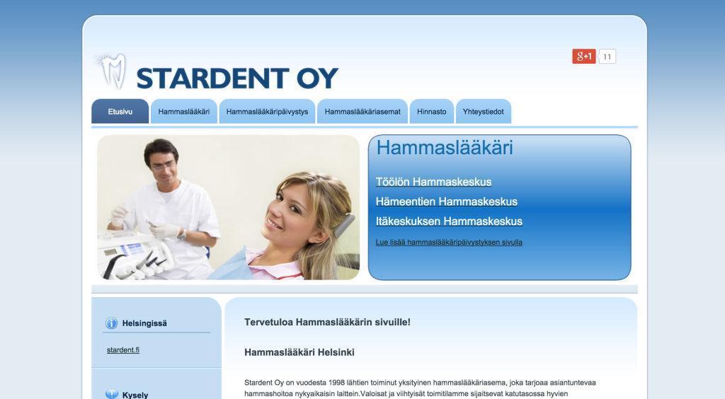 Hammaslääkäri helsinki Stardent Oy