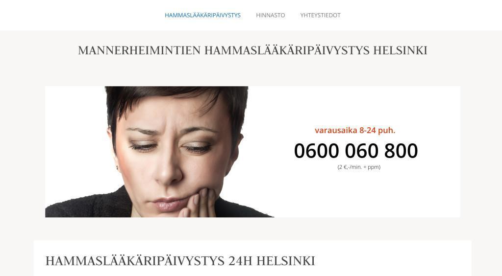 MANNERHEIMINTIEN HAMMASLÄÄKÄRIPÄIVYSTYS HELSINKI